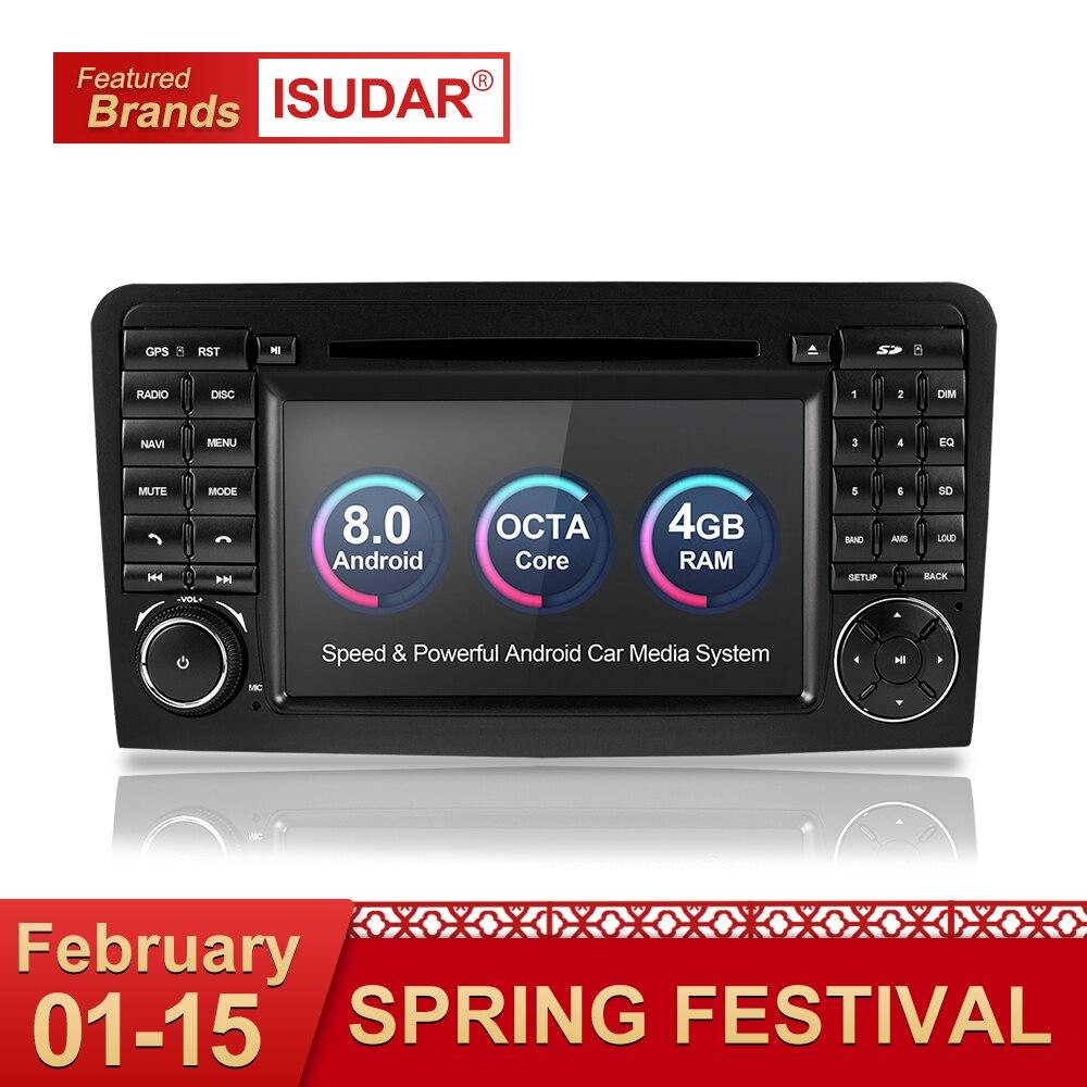 Isudar Автомагнитола 2 Din с 7 Дюймовым Экраном на Android 8.0 Для Автомобилей Mercedes/Benz/GL ML CLASS W164 ML350 4GB RAM DSP Радио С Встроенным Микрофоном Wifi