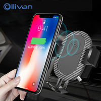 Ollivan Fast Qi Car Wireless Charger For IPhone 8 X Quick Charging Adapter For Samsung Galaxy