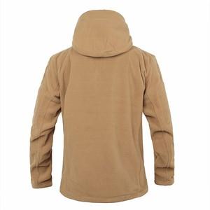 Image 4 - Winter Military Tactical Fleece Jacket Military Uniform Soft Shell Fleece Hoody Jacket Men Thermal Hoodie Coat