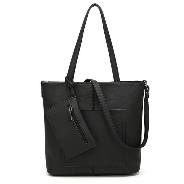 Famous Brand Women Bag Top-Handle Bags 2017 Fashion Women Messenger Bags Handbag Set PU Leather Composite Bag