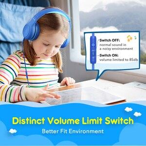 Image 3 - Mpow CH6 Wired Crianças Fones De Ouvido Ajustável Com Fio Fone De Ouvido Com 3.5mm De Áudio Jack E Microfone Para Crianças Para iPod