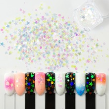 Meicailin 1 Box 3g Sparkle Nail Sequins Star Lacquer Paillettes Flakes 3D DIY Art Decoration Manicure Glitter Powder