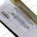 20 pcs C: C: 96mm/128mm/160mm Cristal Gabinete Dresser Gaveta Puxa Strass vidro Móveis de Cozinha Punho de Prata Botão Único