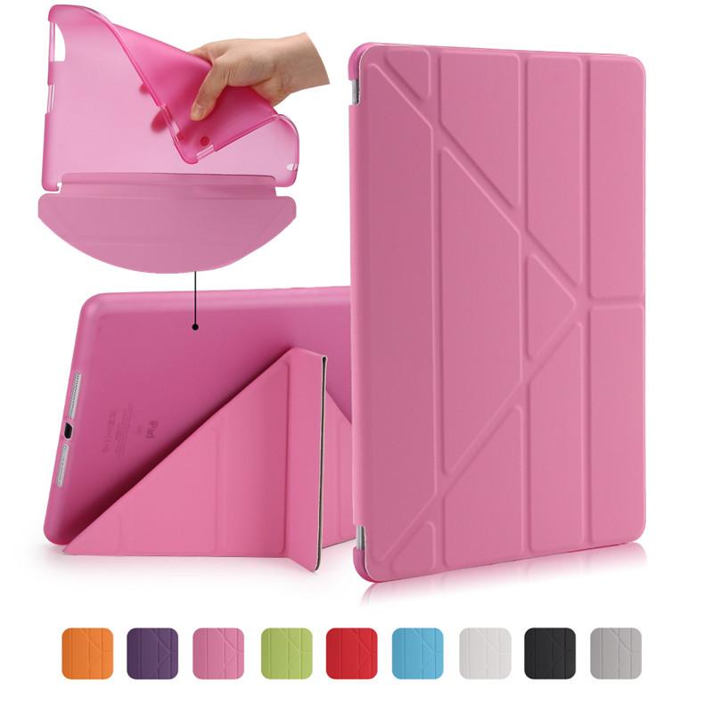 Case For Apple Ipad 3 2 4 Tablet Cover TPU Flexible Silicone Soft Back+Smart PU Leather Front Case Auto Wake/Sleep+Stylus Gift