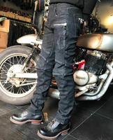 2018 new winter warm Uglybros jeans men's motorcycle pants outdoor riding protective pants retro motorcycle jeans SIZE:28 40