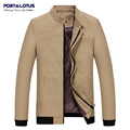 Port&Lotus Bomber Jacket 100%Cotton Stand Collar Cuff Patchwork Brand Clothing Coats 203 (HD8811)/Veste Homme Wholesale