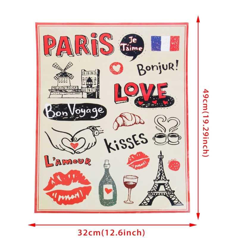 جديد مختلط لوح التزلج على الجليد الكتابة على الجدران ملصق محمول الأمتعة سيارة الدراجة الهاتف الشارات الفرنسية نمط