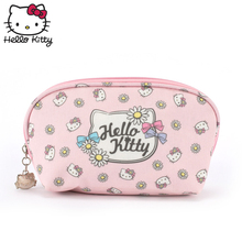 Hello Kitty Cute Cartoon hellokitty Purse Women Handbag Travel Girls Convenient Wrist Bag Make Up Card Holder Plush Backpack подвеска hello kitty hnl1704chc hellokitty
