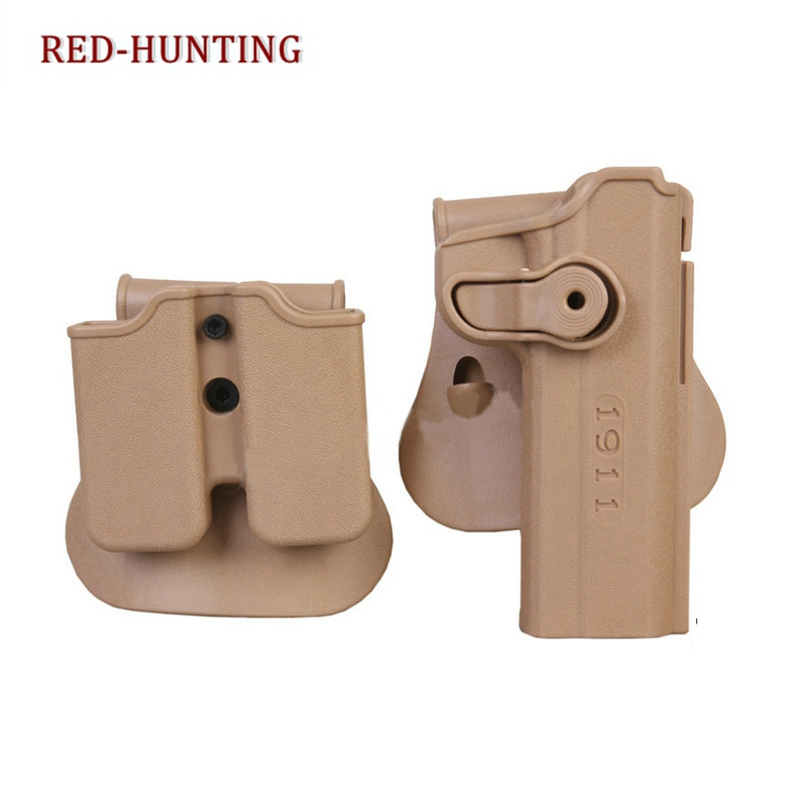 1911 IMI Gun Holster With Magazine Pouch Black Coyote Polymer Roto Holster For Colt 1911