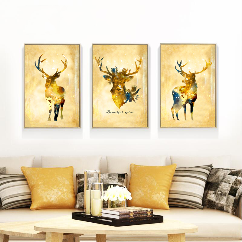 Online buy wholesale deer art prints from china deer art for Buy cheap canvas art
