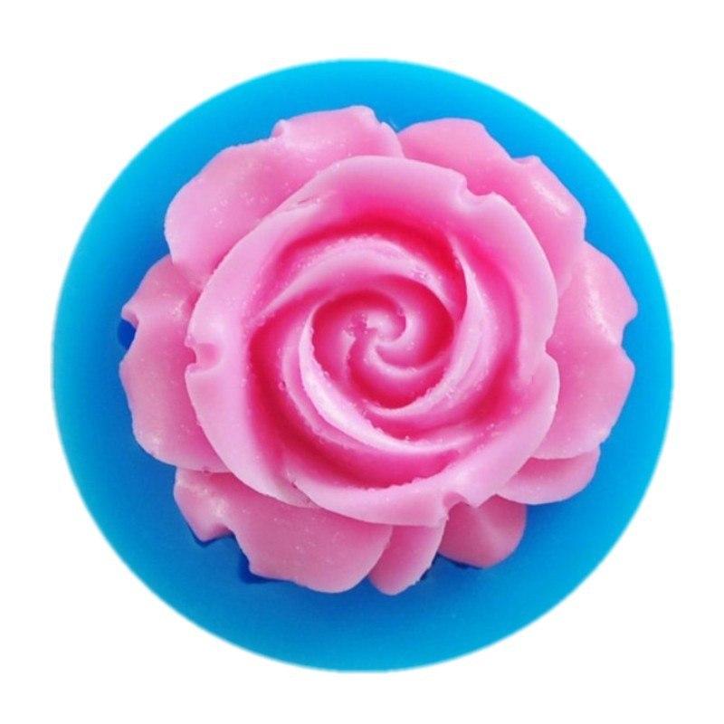 Urijk 1 шт.. случайный цвет Новый 3D силиконовая Роза Мыло Плесень ручной работы мыло плесень/силиконовая форма/мыло силиконовые форма для мыла