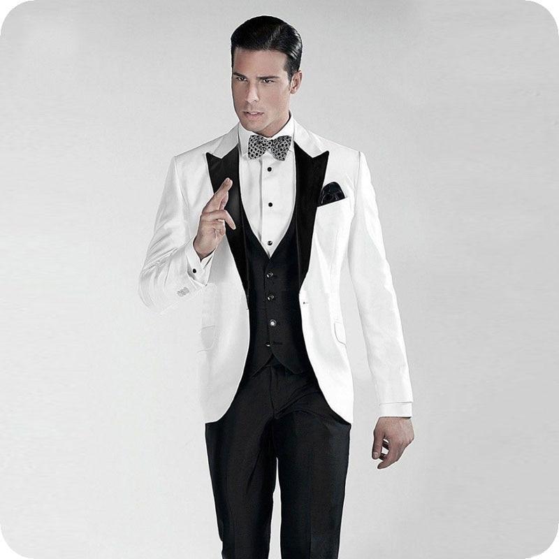 efb3bb605046 Costume Scialle Da Uomo Risvolto Vestiti Image Sposo Nero as As Slim custom  Formale Smoking Custom ...