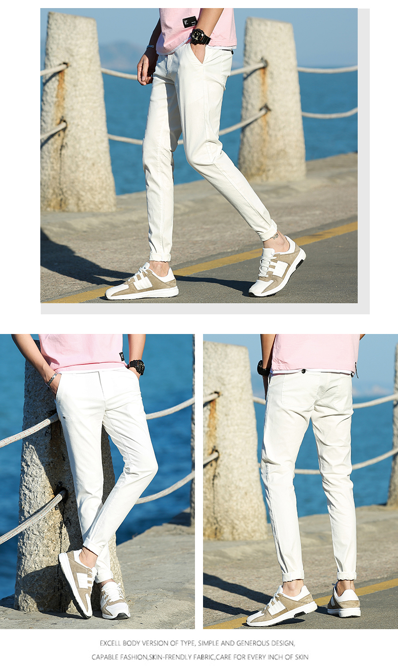 Casual Men Cotton Slim Fit Chinos Pants 8