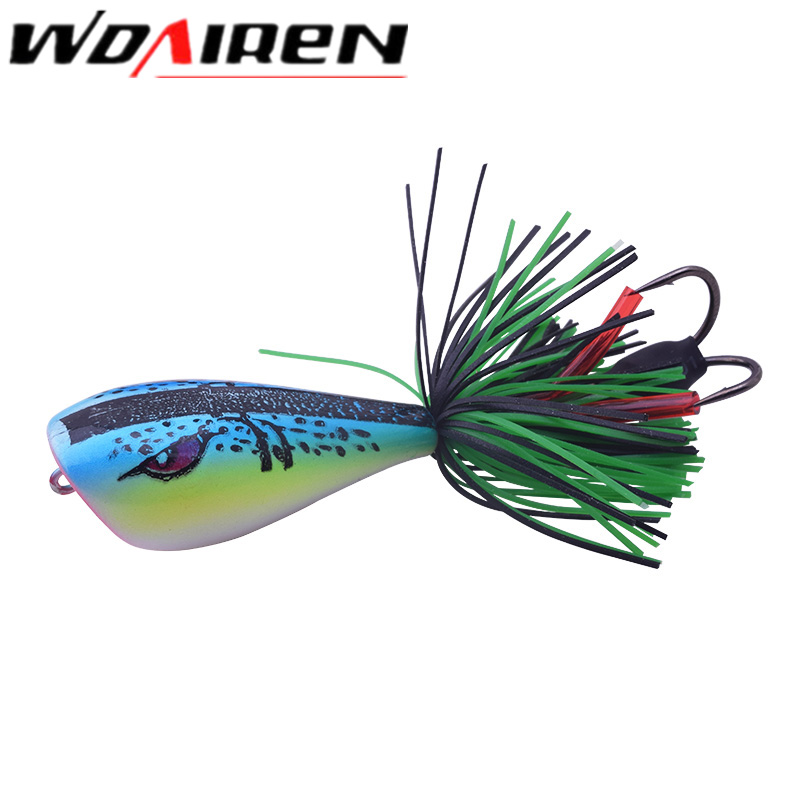 WDAIREN High Quality Popper Frog Lure 90mm/10g Snakehead Lure Topwater Simulation Frog Fishing Lure Soft Bass Bait WD-469 high quality frog fishing lures 5g 10g 15g 16g multi colors snakehead lure topwater soft bass bait frog lure fishing tackle