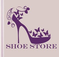Shoe Store Vinyl Wall Decal Women's Fashion Shoes Girls Fashion Mural Art Wall Sticker Shoe Shop Beauty Shop Window Decoration