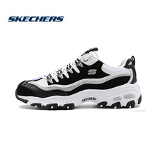 Skechers Shoes Women D'lites Comfortable Breathable Casual Shoes Woman Sneakers Thick Sole Platform Flats Ladies 11914-BKW кеды skechers skechers sk261awejsf4