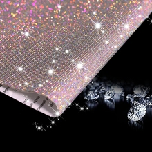 39CM Rhinestone Cover Sticker Crystals Ornament Car Decor Styling Accessories Mobile Box Edge Art Diamond Self Adhesive Stickers crystals rhinestones car decor decal styling accessories mobile art diamond self adhesive sticker flat acrylic drilling stickers