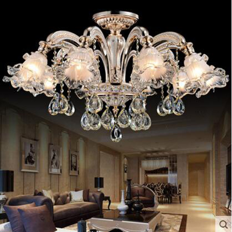 Alloy Luxury Atmosphere Jane European Crystal Chandelier Living Room Lighting Restaurant Lights American Bedroom Ceiling lamps 8 inches tiffany american jane european chandelier balcony windows and a small table lamps art rose garden lighting