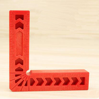 "90 Degree Right Angle Ruler Woodworking Tool 3"" L-Shape Auxiliary Locator Angle Holder Assist Positioning Tool"