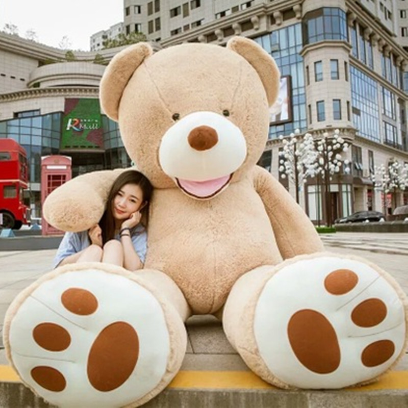 Selling Toy Big Size 160cm American Giant Bear Skin kawaii Teddy Bear Coat Good Quality Factary Price Soft Toys For Girls factory price 160cm teddy bear coat empty toy skin plush giant bear toy