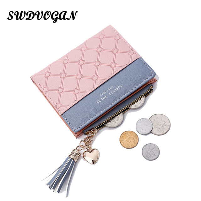 c18c8a7581f3 SW Wallet Female Small PU Leather Wallet Zipper Plain Women Wallets Coin Purse  Women Card Holder Carteira Portefeuille FemmeG011