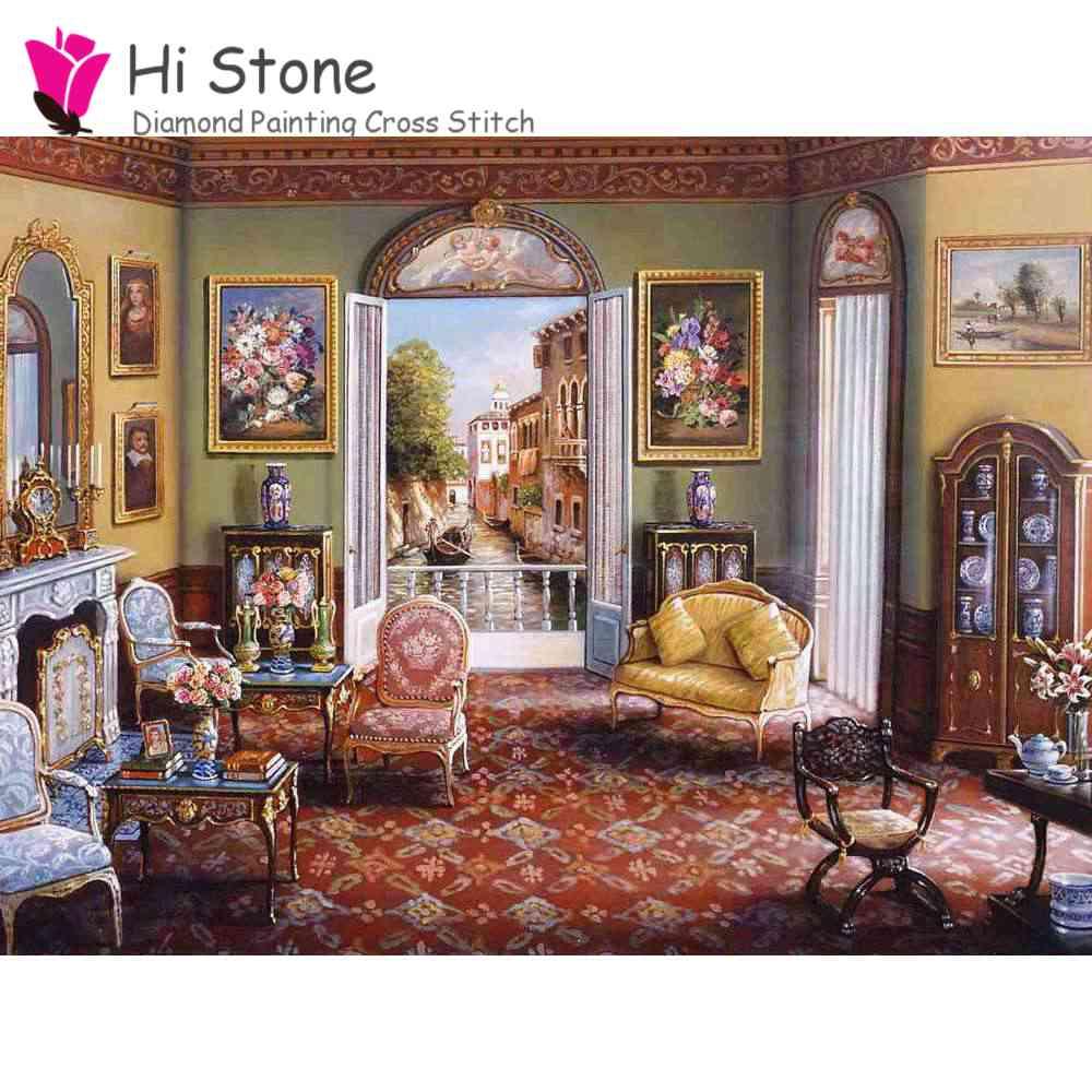5D DIY алмаз пейзажной живописи Вышивка крестом полный горный хрусталь мозаика живопись Home Decor подарок