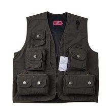 Men Fishing Vest Jacket Multi-Pocket Outdoor Photography Waistcoat Outdoor Quick Dry Plus Size Fishing Hunting Vests EA14