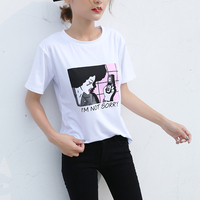 Хлопковая футболка с модным принтом