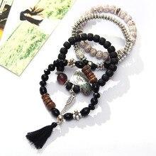 Crystal Bead Bracelets for Women (4 pcs/set)(4 colors)