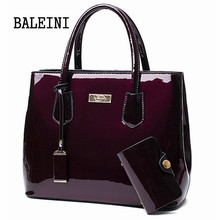 2 in 1Women Leather bags Mirror Shoulder Bags
