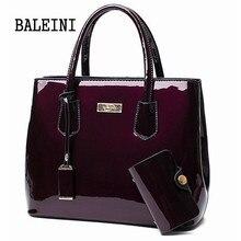 2 w 1 kobiet skórzane torby lustro torby na ramię + pakiet kart modny Top uchwyt torebki na co dzień duże torba z rączkami projektant Messenger torby