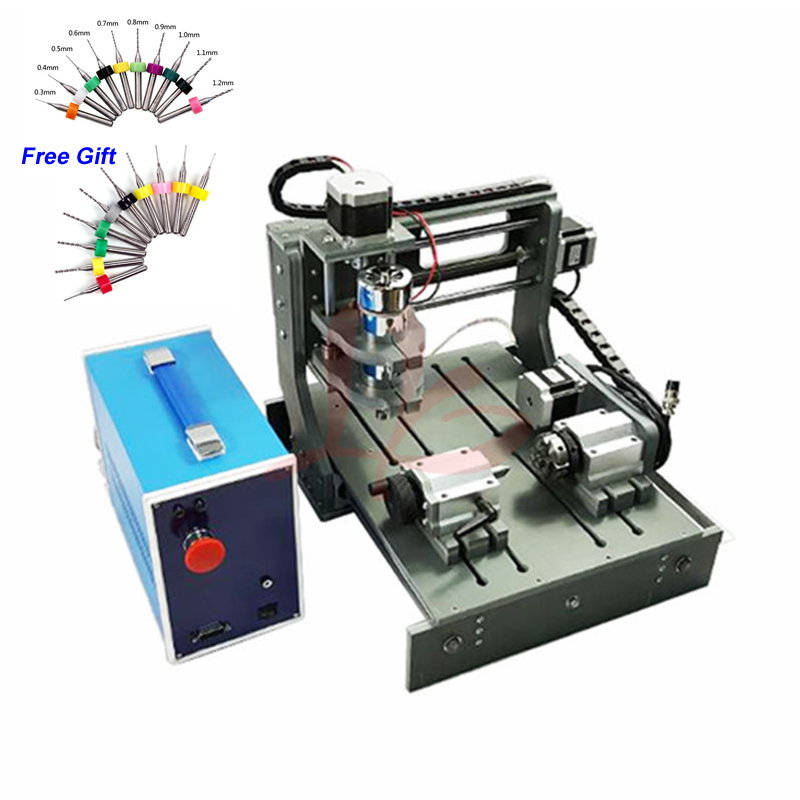 Mini CNC Milling Machine 4 Axis  2030  3020 Wood Router Engraver With Parallel USB Port 2 In 1