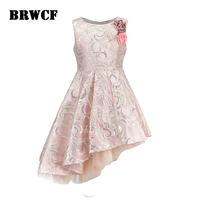 BRWCF Yeni 2017 Sonbahar & Kış Için Çocuk Giyim Moda Çocuk Elbise Bebek Kız Prenses Elbise için Parti Ve Düğün 3-12 Yıl