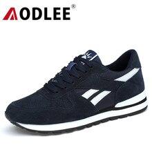 AODLEE أحذية الرجال أحذية رياضية جلد طبيعي حذاء كاجوال الأخفاف حذاء رجالي ماركة الشتاء موضة أحذية رياضية الرجال قارب أحذية غير رسمية