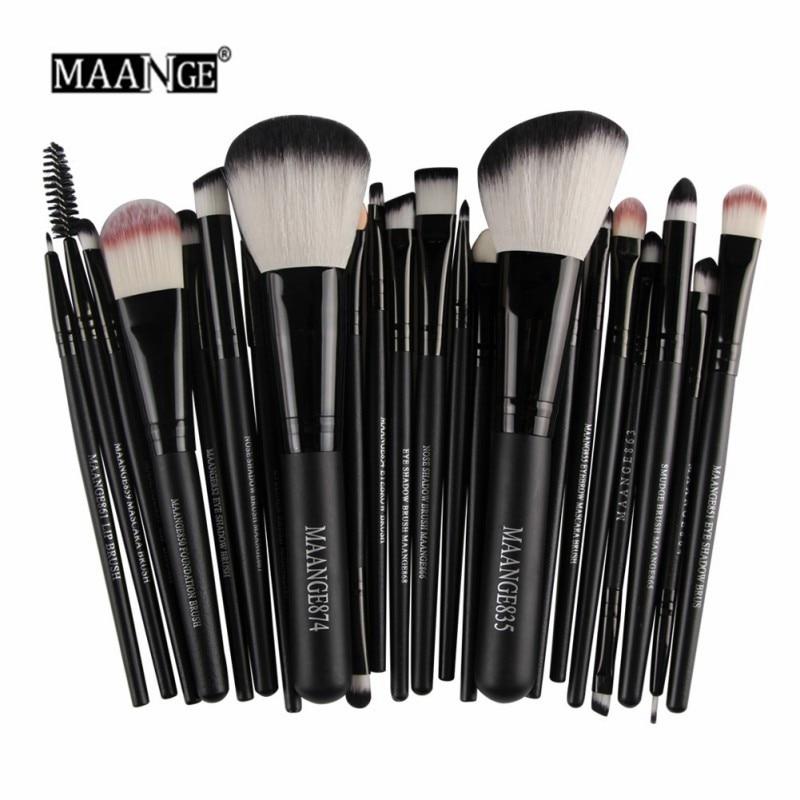 MAANGE 22 Pcs Make-Up Pinsel Kit Powder Foundation Lidschatten Eyeliner Lip Make-Up Pinsel Set
