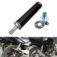 6x28cm Universal New Styling Black Motorcycle Racing Exhaust Muffler Silencer Pipe For Street Scooter