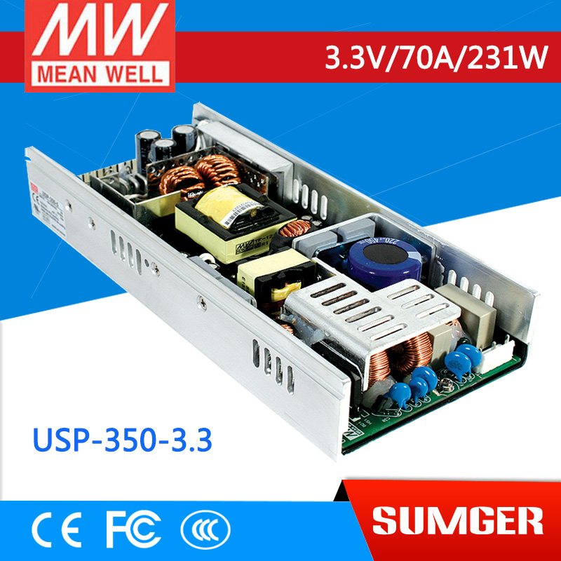 1MEAN WELL original USP-350-3.3 3.3V 70A meanwell USP-350 3.3V 165W Single Output with PFC Function Power Supply original meanwell nes 350 36 ac to dc single output 350w 9 7a 36v mean well power supply nes 350