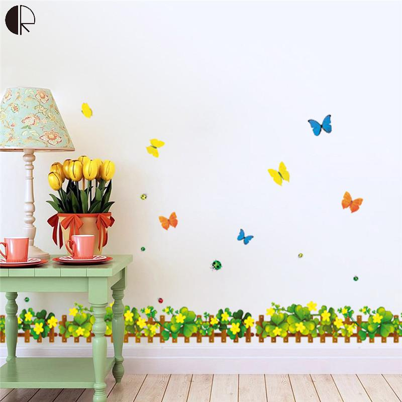 beautiful diy butterfly flower home wall glass decoration wall