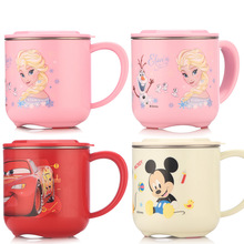 Disney Cartoon Cute Cup Stainless Steel Mugs for Kids Feedin