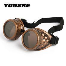 f7793a0426 Gafas de sol Punk gótico punk de soldadura Retro Vintage gafas de sol  Steampunk gafas de sol de vapor Retro de moda 2018