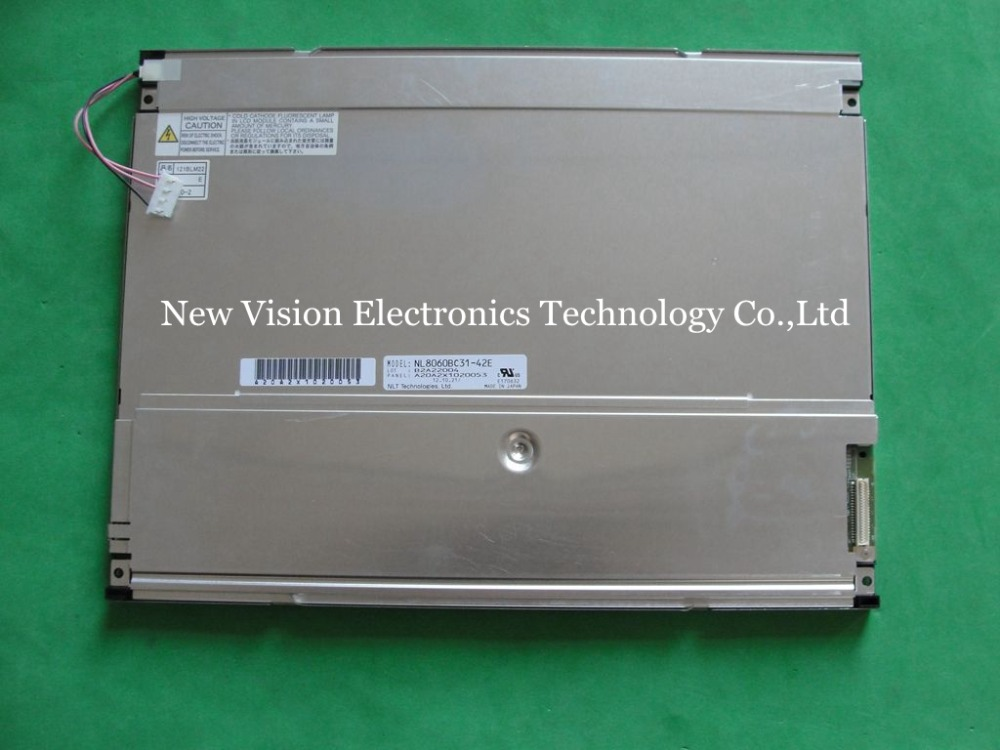 NL8060BC31 42E Original 12 1 inch LCD Display Panel for Industrial Application for NEC