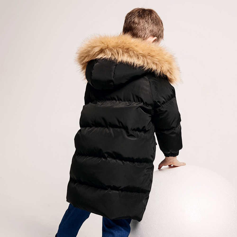 Balabala-20 derece Bebek Erkek Ceket Kış yün Kalınlaşmak Çocuk Kız Sonbahar Giyim Kapşonlu Sıcak Çocuk Palto Giysileri Için 2-6Y