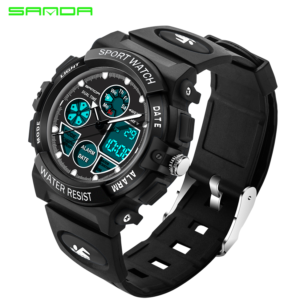 Watches Skmei Fashion Children Watch Waterproof Multifunctional Outdoor Sports Kids Watches For Kids Girl Led Digital Wristwatches 2018