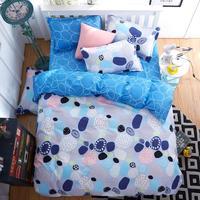 UNIHOME Luxury Full/Queen Duvet cover set 300 thread count fiber reactive prints bedding set QINGCHUNFEIYABNG