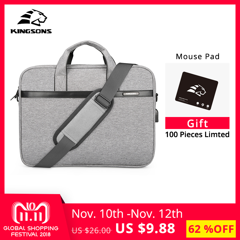 Kingsons Waterproof High Quality Laptop Handbag for 12 13 14 15 Inch Computer Bussiness Travel Men and Women Notebook Bag 2017 kingsons 11 13 14 15 inch laptop sleeve bag for men and women business laptop handbag notebook bag large capacity grey blue pink