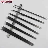Cuticle Pusher Remover Pedicure Nail Tools 2017 Cuticule Podologia Steel Taglia Cuticole Set Leather Knife Utensilios Faca