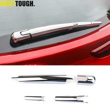 For Hyundai Kona Encino Kauai 2017 2018 2019 Chrome Rear Trunk Window Windshield Wiper Cover Trim Arm Blade Molding Decoration(China)