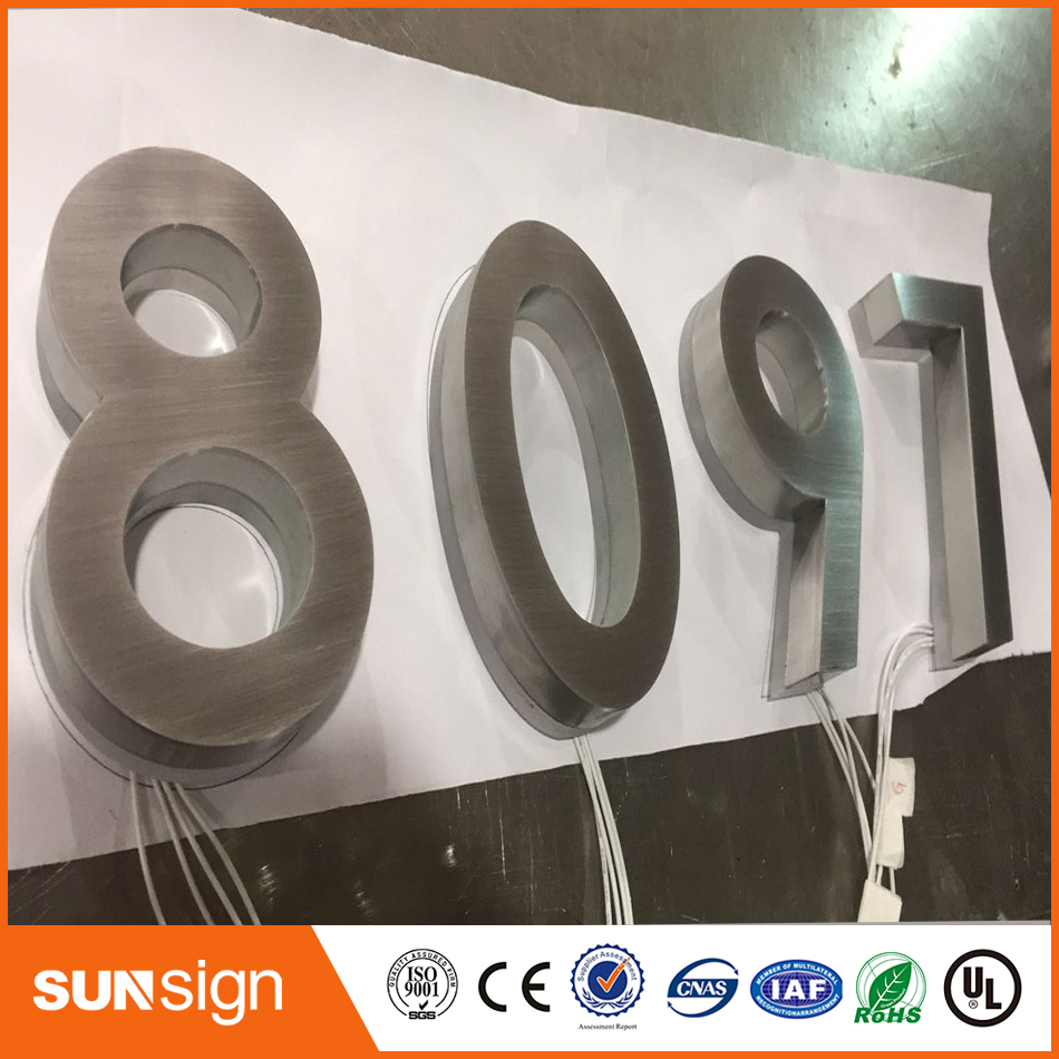 Indoor Customized Advertising RGB Backlit Letters And Signs