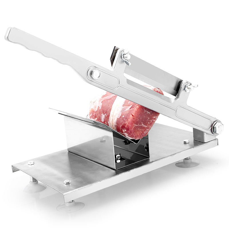 Stainless Steel Manual Meat Slicer Machine Mutton Meat Cutter Commercial Household Frozen Meat Cutter Vegetable Fruit Planer new automatic stainless steel commercial vegetable