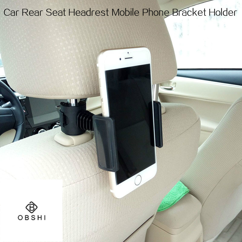 360 Degree Rotating Car Lazy Bracket Back Seat Headrest Phone Mount Holder For Cell Phone Support IPad Tablet Mobile Phone Stand